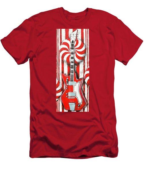 White Stripes Guitar Men's T-Shirt (Athletic Fit)