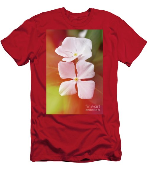 White Vinca With Vivid Highligts  Men's T-Shirt (Athletic Fit)