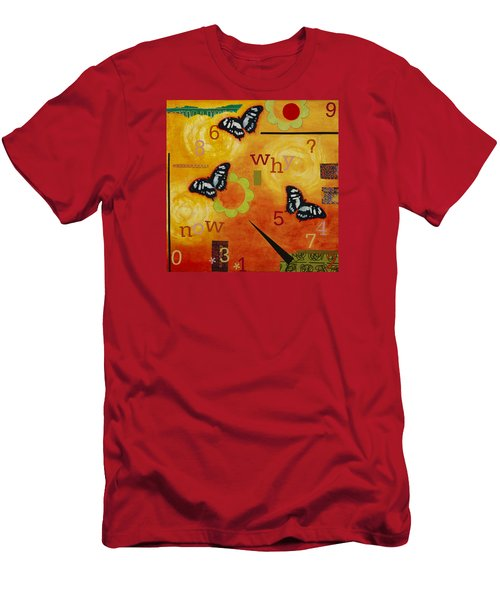 Men's T-Shirt (Slim Fit) featuring the mixed media Why by Gloria Rothrock