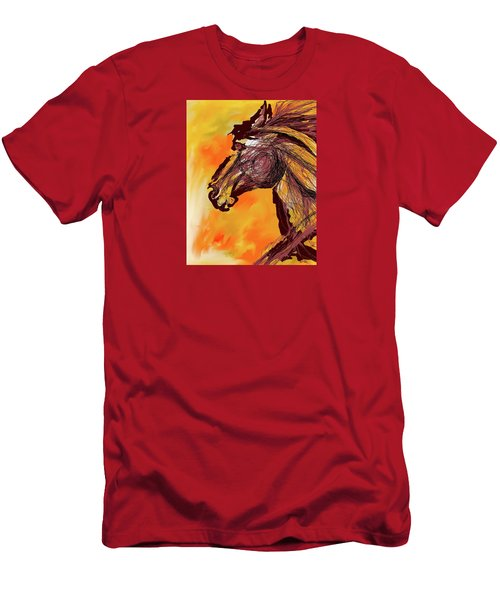 Wild One Men's T-Shirt (Slim Fit) by Mary Armstrong