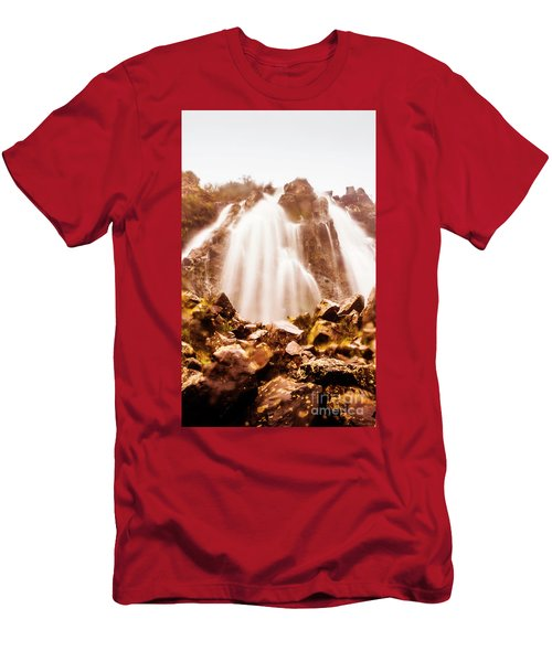 Wild West Water Fall Men's T-Shirt (Athletic Fit)