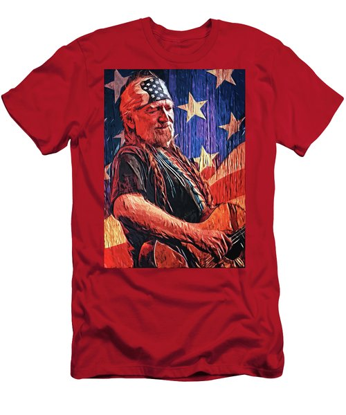Willie Nelson Men's T-Shirt (Athletic Fit)