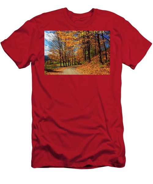 Winding Country Road In Autumn Men's T-Shirt (Athletic Fit)