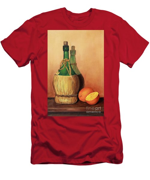 Wine And Oranges Men's T-Shirt (Slim Fit) by Pattie Calfy