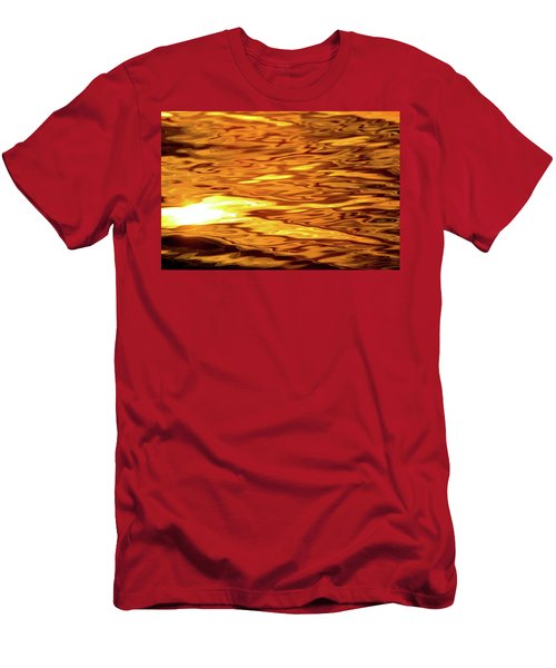 Yellow Light On Water  Men's T-Shirt (Slim Fit)