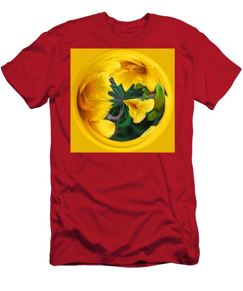 Yellow Lily Orb Men's T-Shirt (Athletic Fit)