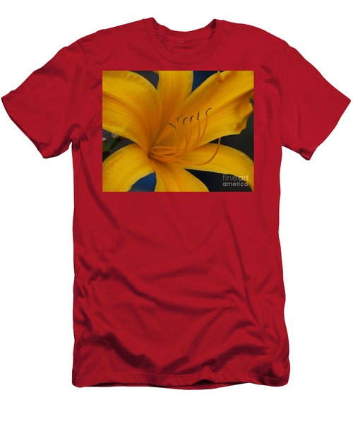 Yellow Tiger Lilly Men's T-Shirt (Athletic Fit)