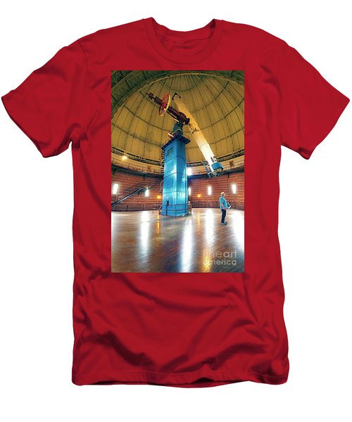 Men's T-Shirt (Athletic Fit) featuring the photograph Yerkes Observatory Williams Bay Telescope  by Tom Jelen