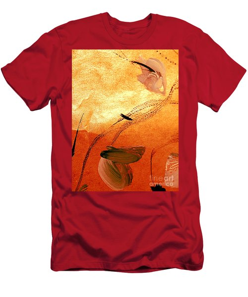 Ying And Yang Flowers Men's T-Shirt (Athletic Fit)