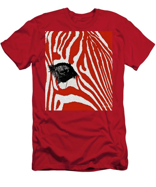 Zebra Red Men's T-Shirt (Athletic Fit)