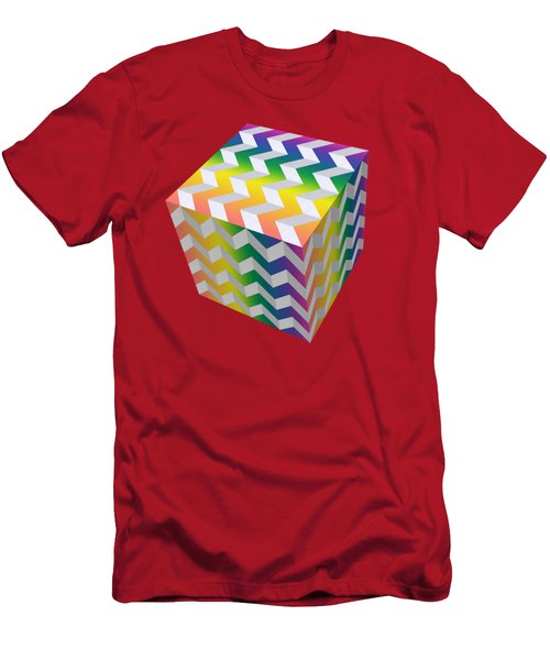 Zig Zag Cube Men's T-Shirt (Athletic Fit)