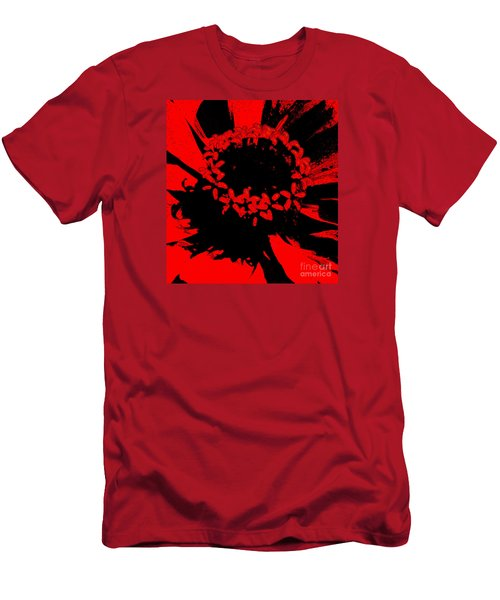 Men's T-Shirt (Slim Fit) featuring the photograph Zinnia Crown by Jeanette French