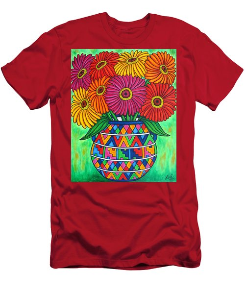 Zinnia Fiesta Men's T-Shirt (Athletic Fit)