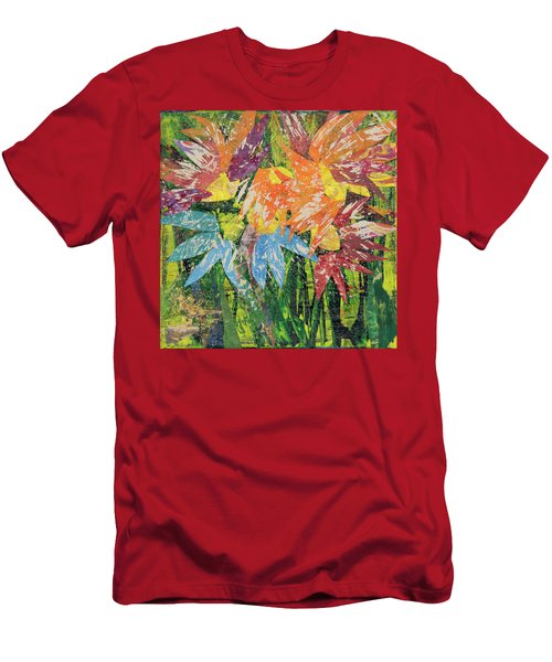 Zinnias Gone Mad Men's T-Shirt (Athletic Fit)