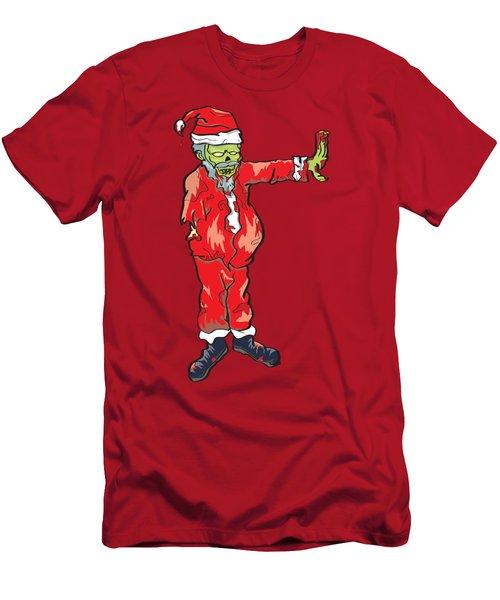 Zombie Santa Claus Illustration Men's T-Shirt (Athletic Fit)