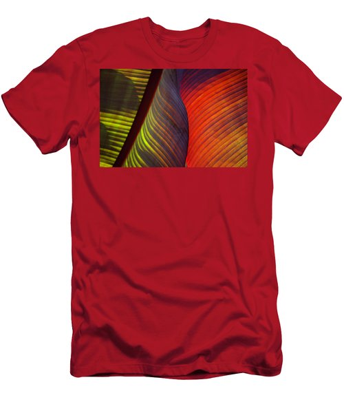 Men's T-Shirt (Athletic Fit) featuring the photograph Banana Leaf 8602 by Mark Shoolery