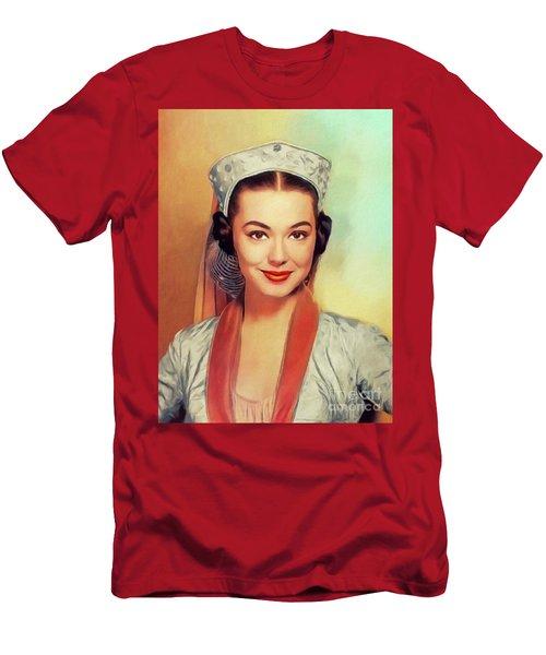 Barbara Rush, Vintage Actress Men's T-Shirt (Athletic Fit)
