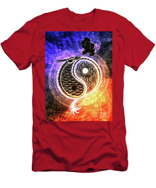Fire And Ice  Men's T-Shirt (Athletic Fit)