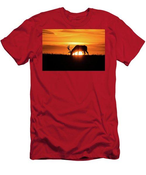 Sunrise Elk Men's T-Shirt (Athletic Fit)