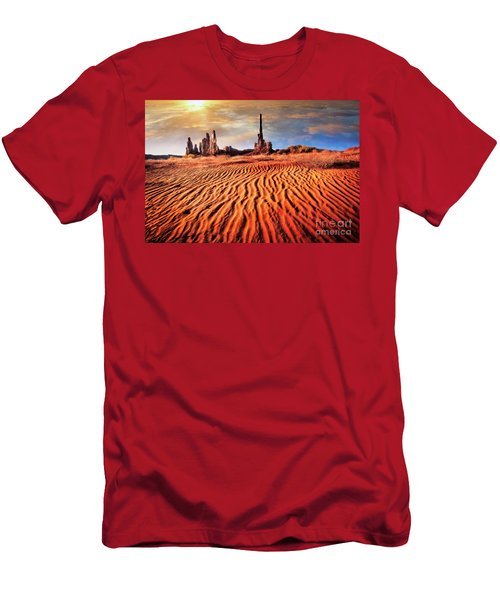 Men's T-Shirt (Athletic Fit) featuring the photograph Totem Dunes by Scott Kemper