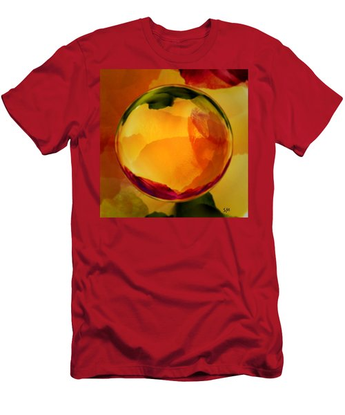Watercolor Glass Marble  Men's T-Shirt (Athletic Fit)