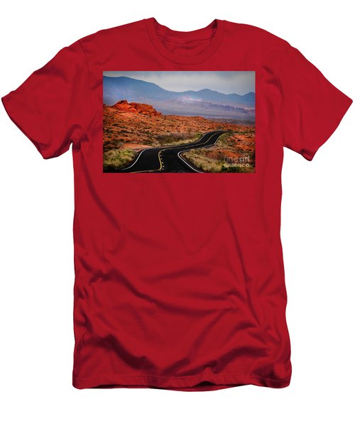 Winding Road In Valley Of Fire Men's T-Shirt (Athletic Fit)