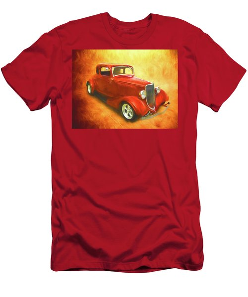 1934 Ford On Fire Men's T-Shirt (Athletic Fit)