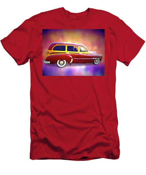 1951 Chevy Woody Sideview Men's T-Shirt (Athletic Fit)