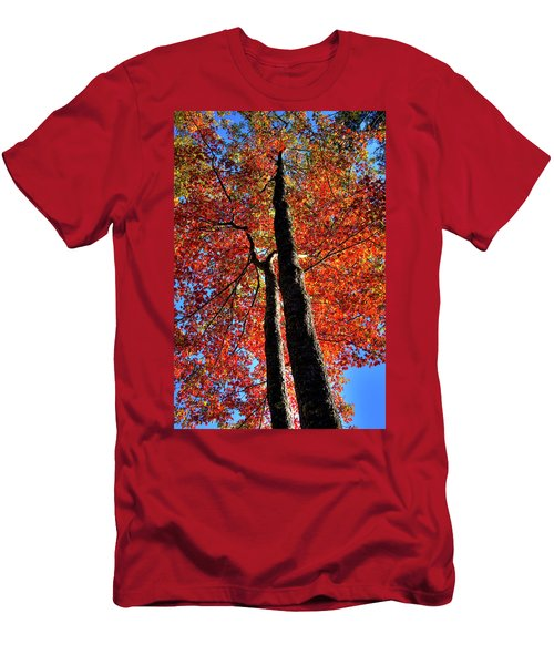 Men's T-Shirt (Athletic Fit) featuring the photograph Autumn Reds by David Patterson