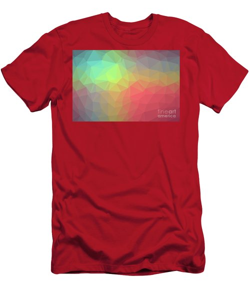 Gradient Background With Mosaic Shape Of Triangular And Square C Men's T-Shirt (Athletic Fit)