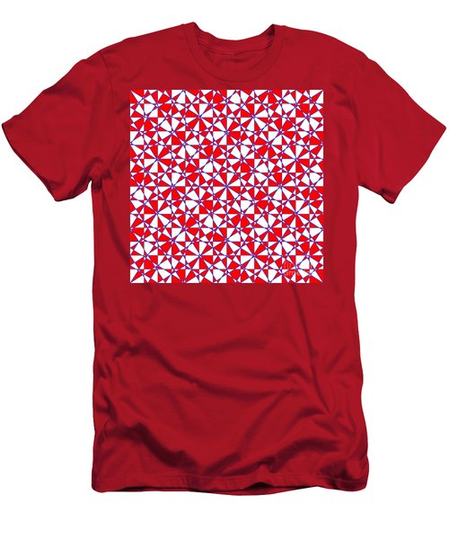 Crazy Psychedelic Art In Chaotic Visual Color And Shapes - Efg22 Men's T-Shirt (Athletic Fit)