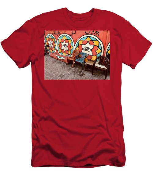 3 Lonely Chairs In Beirut  Men's T-Shirt (Athletic Fit)