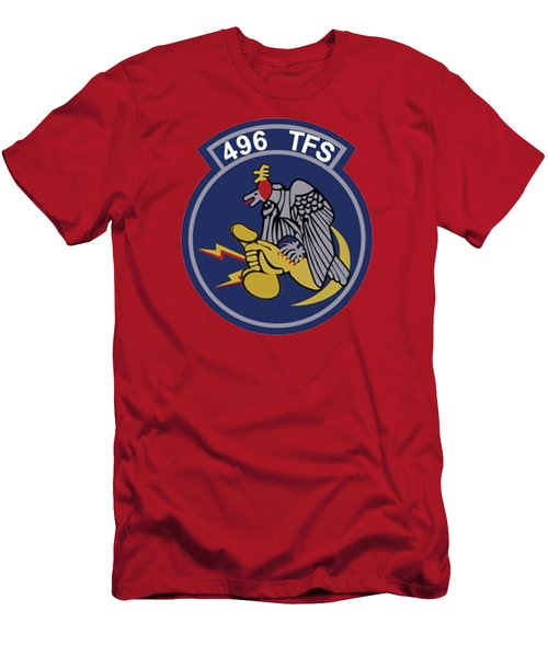 496th Tactical Fighter Squadron  Men's T-Shirt (Athletic Fit)
