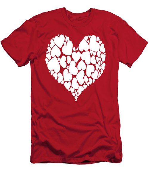 A Heart Full Of Love Romantic Pattern Men's T-Shirt (Athletic Fit)