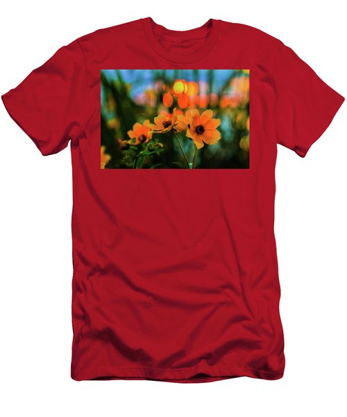 Sunflower Bokeh Sunset Men's T-Shirt (Athletic Fit)