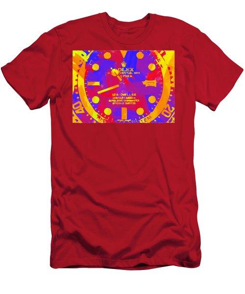 Abstract Rolex Digital Paint 8 Men's T-Shirt (Athletic Fit)