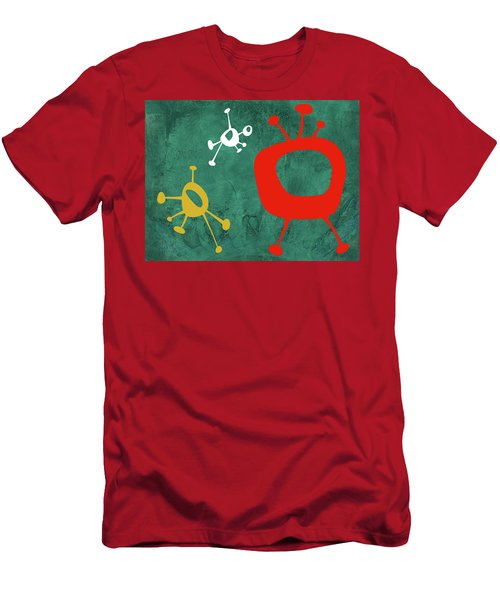 Abstract Splash Theme Iv Men's T-Shirt (Athletic Fit)