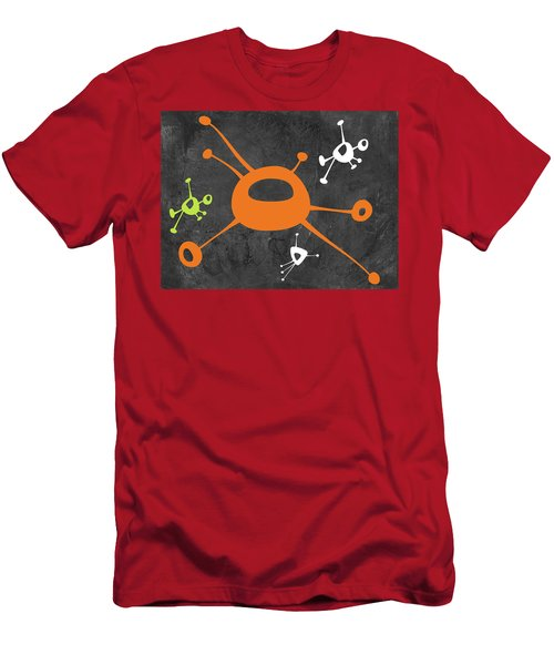 Abstract Splash Theme Xiii Men's T-Shirt (Athletic Fit)