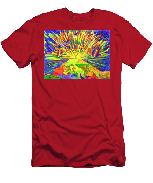 Men's T-Shirt (Athletic Fit) featuring the painting Adonai by Nancy Cupp