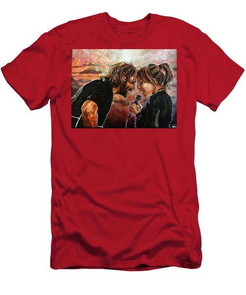 Men's T-Shirt (Athletic Fit) featuring the painting Always Remember Us This Way by Joel Tesch