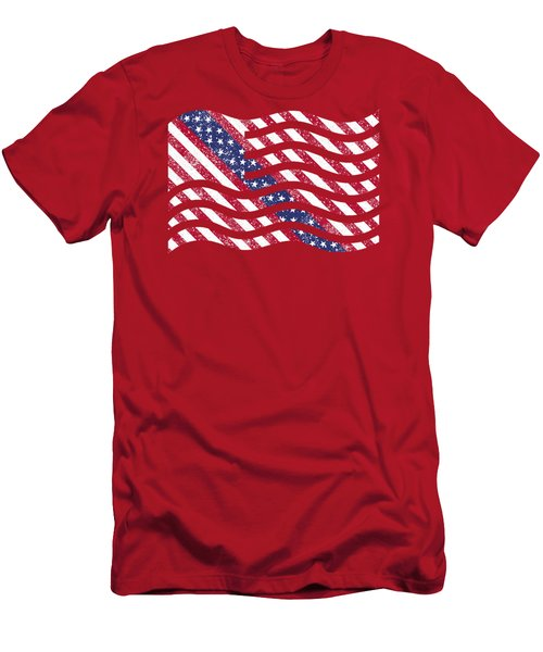 American Flag Art Men's T-Shirt (Athletic Fit)