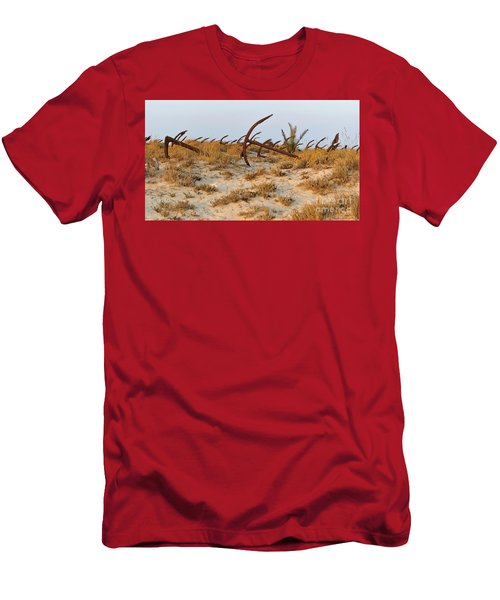 Anchors In Barril Beach Men's T-Shirt (Athletic Fit)