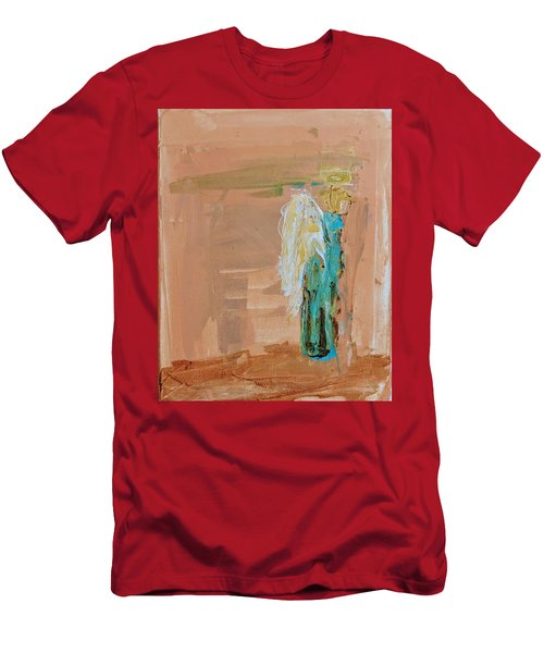 Angel Boy In Time Out  Men's T-Shirt (Athletic Fit)