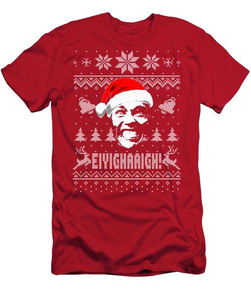 Arnold Schwarzenegger Christmas Shirt Men's T-Shirt (Athletic Fit)
