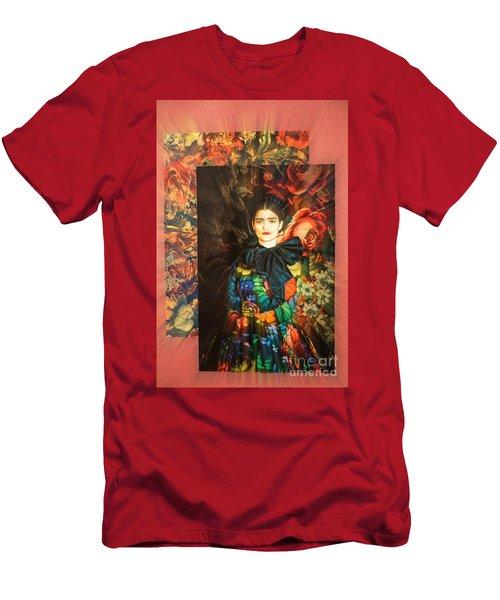 Artistic Frida Kahlo Stream  Men's T-Shirt (Athletic Fit)