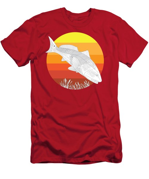 Sunset Redfish Men's T-Shirt (Athletic Fit)
