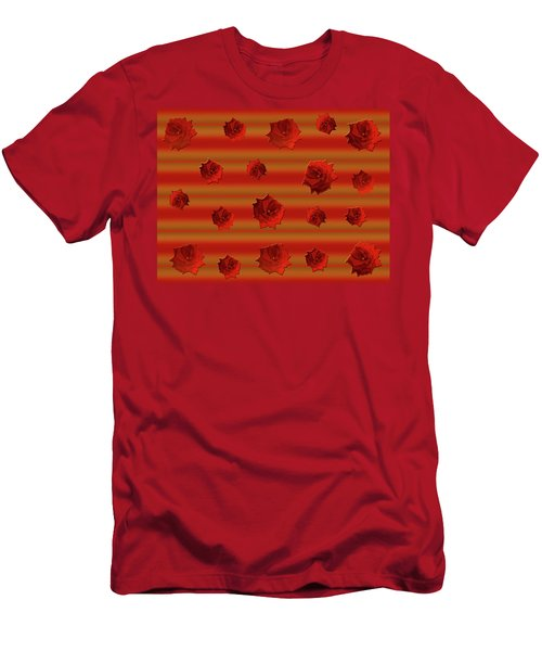 Red Roses Falling Men's T-Shirt (Athletic Fit)