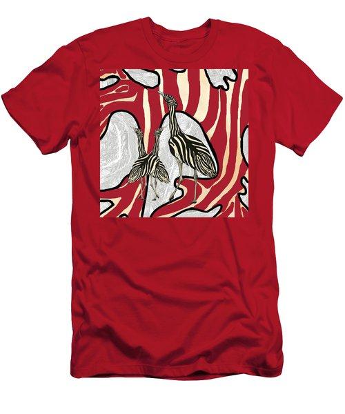 Australian Bustard Zebra 5 Men's T-Shirt (Athletic Fit)