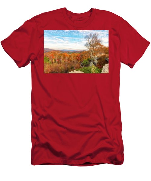 Men's T-Shirt (Athletic Fit) featuring the photograph Autumn Afternoon by Russell Pugh
