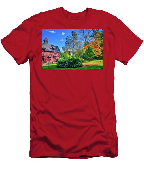 Men's T-Shirt (Athletic Fit) featuring the photograph Autumn Days On Campus At Cornell University - Ithaca, New York by Lynn Bauer